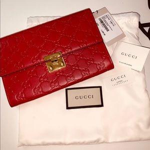 Authentic Gucci Padlock Clutch